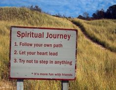 The spiritual journey can be a bumpy ride, but oh how much more I can see, taste, smell, hear, and feel down this road less traveled ❤