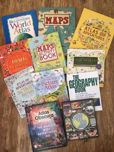 Fantastic list of books for homeschool geography Map Activities, Adventure Activities, Homeschool Books, Homeschool Curriculum, Homeschool Kindergarten, Teaching Geography, National Geographic Kids, Book Recommendations, Kids Learning