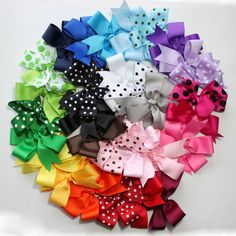 Pick 20 Large Hair Bows - Girl / Shower / Gift / Uniform / Toddler / Baby Hair Bows