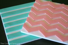 How to Make Foam Stamps {Chevron & Stripes} - SNAP!