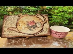 DIY Decoupage a Tea Box - YouTube