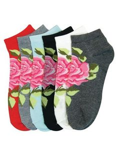 HS Women Fashion Ankle Socks Big Beautiful Rose Design (size 9-11) 6 Colors 6 Pairs by Bonita HS. $7.99. New Products || Great Design and Products Size 9-11 || Machine Wash Warm || Good Size and Great Design || Made In China ||