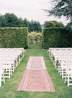 Simple outdoor garden ceremony.
