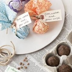 DIY seed bombs as wedding favors. (Photo: Good Housekeeping) Pretty awessome.