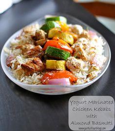 Yogurt Marinated Chicken with Almond Basmati - Just Us Four