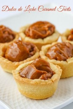 Dulce de Leche Caramel Tarts using Sweet Short Crust Pastry. So simple so easy. Only 5 common ingredients and a very easy method is all it takes to make these rich buttery utterly irresistible mini tarts. Rock Recipes, Tart Recipes, Baking Recipes, Sweet Recipes, Dessert Recipes, Easy Pastry Recipes, Dinner Recipes, Sweet Pie, Sweet Tarts