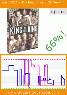WWE 2011 - The Best of King Of The Ring (DVD). Drop 66%! Current price C$ 5.00, the previous price was C$ 14.68. https://www.adquisitiocanada.com/eone-films/wwe-2011-best-king-ring