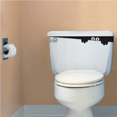 there's a monster in your toilet! This would be cute in a guest bathroom during a Halloween party. :)