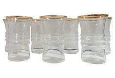 Gold-Rimmed Glasses, S/8 on OneKingsLane.com