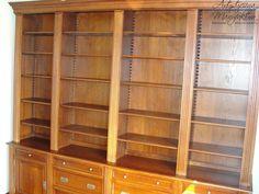 Biblioteka dębowa, oak library furniture, wooden  bookcase  - wykonanie Artystyczna Manufaktura