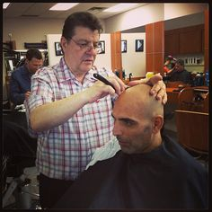 Farzad getting shaved by Mike the Master at Joseph's in Oshawa, ON... -@barberboss (Shelley Salehi) 's Instagram photos | Webstagram - the best Instagram viewer