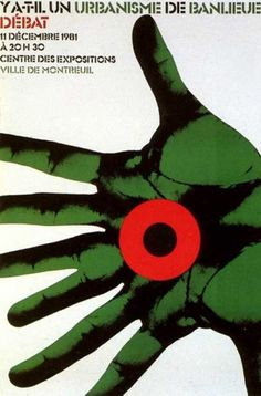 "by Roman Cieslewicz, 1985, ""Y a-t-il un urbarnisme de banlieu débat""."