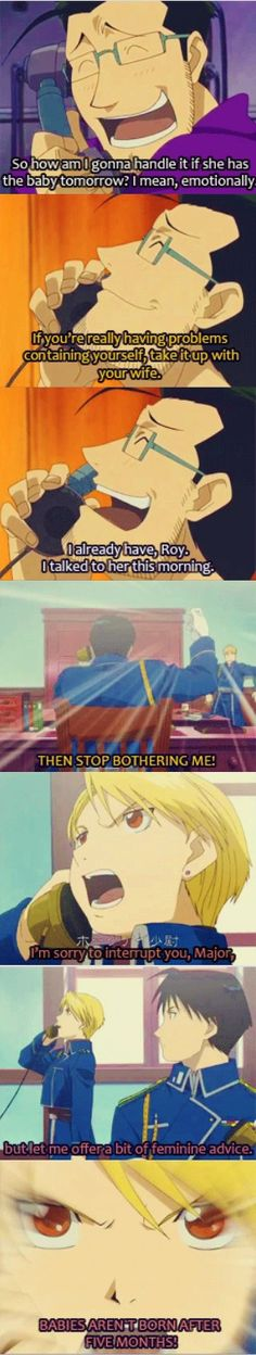 Leave it up to Riza Hawkeye to straighten things out. Hahaha i loved this scene :)
