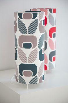 Tolva Blom (marzipan) hand printed table lamp ~ Designed in Brunswick