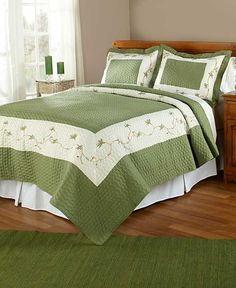 Embroidered Florence Quilts or Shams