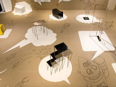 atelier522 – Messedesign exhibition stand ((un sol plein d'indications…