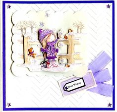 Tilly Daydream A4 Decoupage - Swing, Embossalicious Chevrons embossing folder.