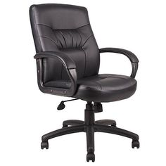 Boss Office Products MID-BACK PADDED ARM EXECUTIVE CHAIR