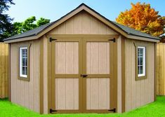 Shed with notched front. Different siding would be a must for me, but it's the right shape...