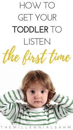 Brilliant parenting advice on how to get your toddler to listen - the first time! Learn the five common reasons why your toddler isn't listening to you, and find out what you can do about it! #RaisingKids #ToddlerHacks #PositiveParenting #ParentingTips #GoodParenting #Kids #GetYourToddlerToListen