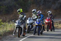 Superbikes 2015! Aprilia RSV4 vs BMW S1000RR vs Ducati 1299 Panigale vs Kawasaki ZX-10 vs Yamaha R1M | ON TWO WHEELS | Motorcyclist