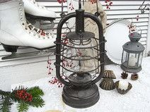 uralte Petroleumlampe Laterne shabby chic