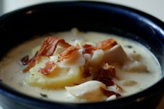 """Slow Cooker Paleo Fish Chowder - """"chowd-ah"""", best way to say it!  www.getcrocked.com"""