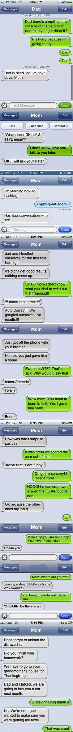 Texts You Dont Want to Get From Your Parents