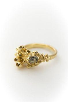 Raised Seaweed Ring by Sarah Brown Jewellery