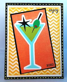 Card made with Nifty Fifties cartridge and Joy's Life stamps