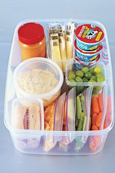organize a snack station that your kids can pick from to pack their lunches