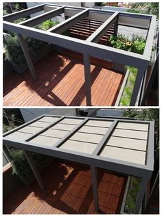 Roof Deck | Pergola | Urban | Garden | Landscape | Design | Planters | Retractable Shades