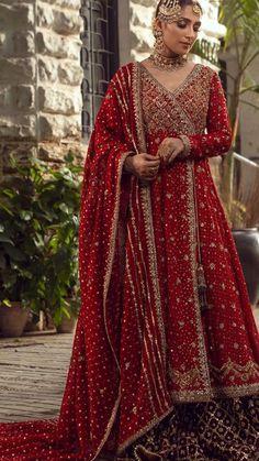 Wedding Dresses For Girls, Indian Wedding Outfits, Bridal Outfits, Ladies Dresses, Indian Bridal Fashion, Pakistani Bridal Dresses, Anarkali Bridal, Pakistani Outfits, Stylish Dress Designs