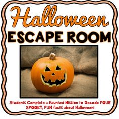 The Halloween Escape Room will take students on a haunted mission around the classroom! This escape room has students decode four spooky, fun facts about Halloween. The Halloween Escape Room has students walking around the classroom breaking codes. Students are given a secret code name and sent on a haunted mission to save Jack from the Haunted Mansion!