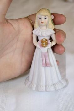 "Enesco Growing Up Birthday Girls Age 8 Blonde 4 3/4"" x 2.5""D figurine $8.50"