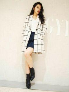 GYDAのその他アウター「ウインドーペンチェスターコート」を使った木村恵里香(GYDA名古屋丸栄店)のコーディネートです。WEARはモデル・俳優・ショップスタッフなどの着こなしをチェックできるファッションコーディネートサイトです。