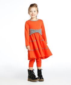 Coral Rita Dress - Toddler & Girls #zulily #zulilyfinds