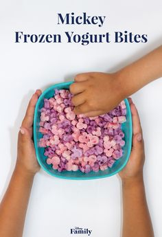 These easy-to-make Mickey Frozen Yogurt Bites are the perfect healthy snack for your next playdate. Not only is this three-ingredient froyo recipe ear-resistible, it'll also cool your little ones down in the summer heat. Oh, boy! Click for the Mickey recipe.