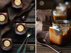 Flan de chocolate y galletas
