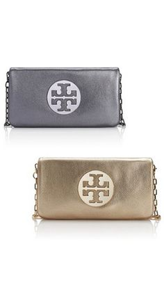 Metallic clutches: I'll take one in each color, please!