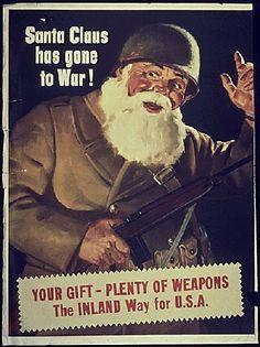 "collectivehistory: "" ""Santa Claus Has Gone to War!"" World War II propaganda (1942) """