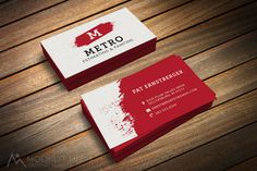 New #logo design and #businesscards for Metro Estimating & Painting.  #estimating #painting #moonlitmedia #metro