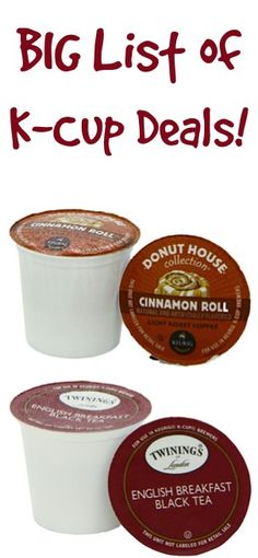 BIG List of K-Cup Deals ~ as low as 39c each + FREE Shipping!!