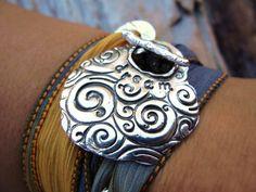 Teen Gift Jewelry Silk Ribbon Wrap Bracelet Dream by HappyGoLicky, $49.50