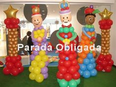 Reyes Magos made from ballons