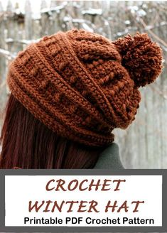 Crochet hat pattern - womens hat- Make a winter hat - A Crafty Life Looking for some cozy winter Crochet Hat Patterns to try? There are lots of different hats to try free and paid. Make some hats as gifts or for you. Crochet Hat Sizing, Crochet Cap, Crochet Gifts, Crochet Patterns, Hat Patterns, Crochet Ideas, Baby Hats Knitting, Knitted Hats, Crochet Winter Hats