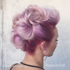 #modernsalon #hairstyles #pastelhair #inspirestyles Cotton candy faux hawk