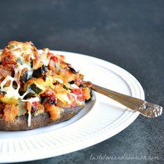 Vegetable Stuffed Portabella Mushrooms - this easy recipe is a delicious favorite!   @tasteLUVnourish