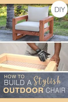 For more special cheap home decor diy creative ideas press the link for the post example 6038043780 today. Modern Outdoor Chairs, Outdoor Furniture Plans, Outside Furniture, Diy Furniture Projects, Woodworking Projects Diy, Diy Wood Projects, Garden Furniture, Diy Patio, Backyard Patio