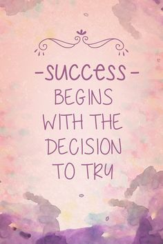 Amazon.com: Success Begins With The Decision To Try Motivational Sign Inspirational Quote: Home & Kitchen